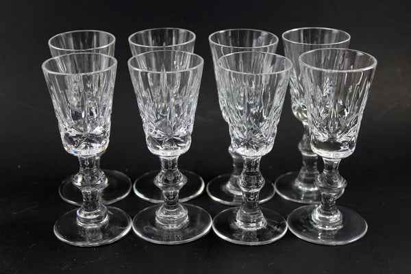 Cross and Olive Crystal, Port Glasses