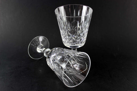 Cross and Olive Crystal Wine Glasses