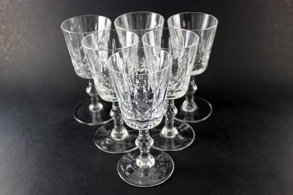 Cross and Olive Crystal Sherry/Port Glasses