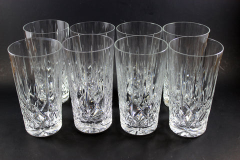 Cross and Olive Crystal High Ball Glasses