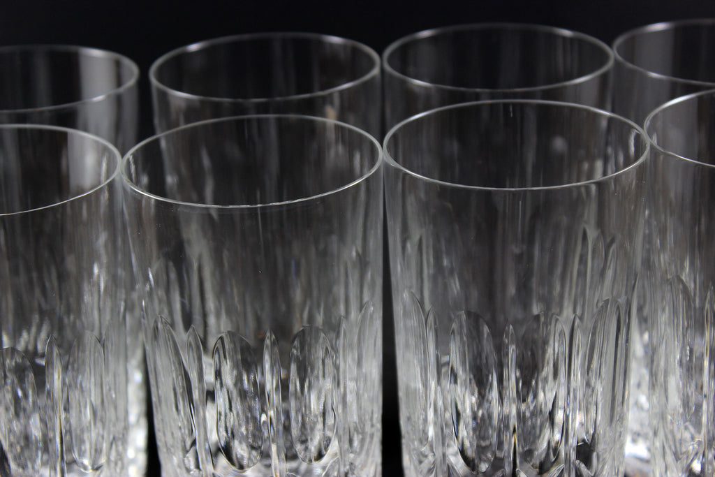 cross and olive crystal high ball glasses - Highball Glasses