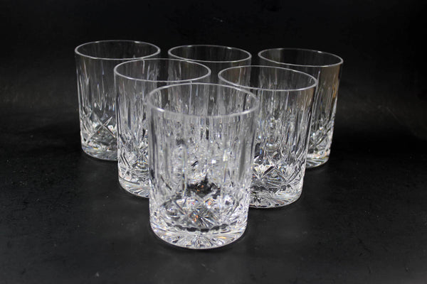 Cross and Olive Crystal, Old Fashioned Glasses