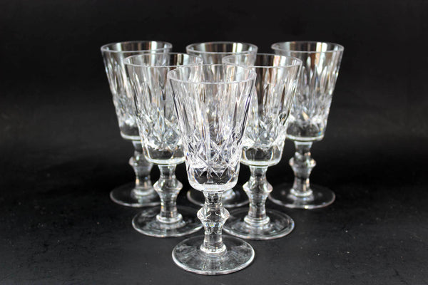 Cross and Olive Crystal,  Sherry Glasses