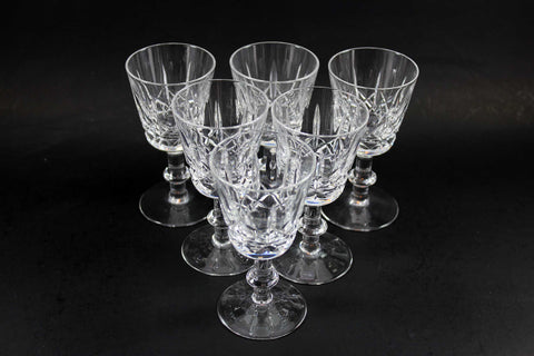 Cross and Olive Crystal,  Sherry or Port Glasses