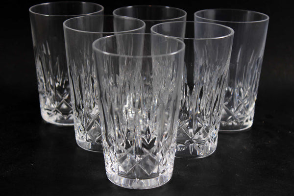Cross and Olive Crystal, Flat Tumbler or Juice Glass