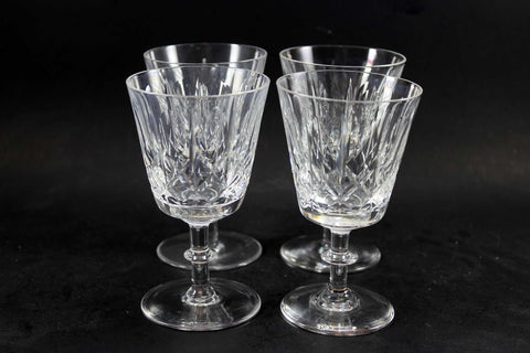 Cross and Olive Crystal,  White Wine Glasses