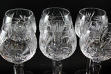 Pinwheel Crystal Hock Glasses