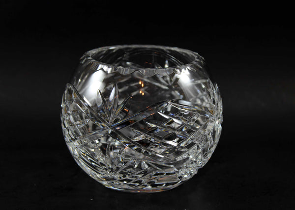 Cut Crystal Rose Bowl