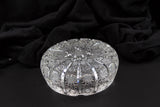 Czech Bohemia Hand Cut Queen Lace Crystal Ashtray