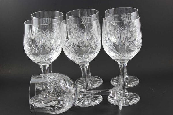 Bohemia Crystal Vintage Wine Glasses (7)