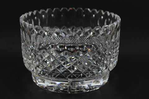 Large Diamond Cut Crystal Bowl