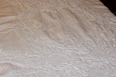 Madeira Embroidery and Linen Tablecloth
