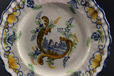 French Faience Montagnon Scalloped Plates