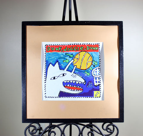 Dave Faville, Dunk Doggie Dunk, Signed Limited Edition Serigraph