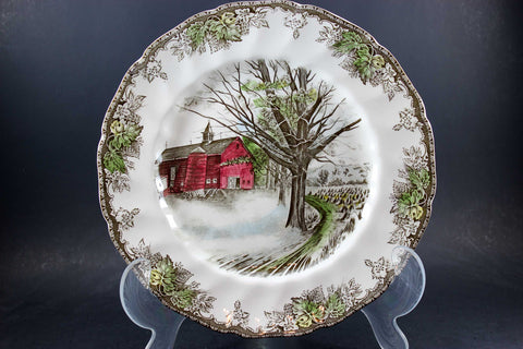 Friendly Village, Johnson Brothers, Large Dinner Plate - Autumn Mists