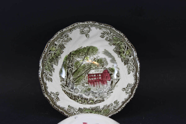 Friendly Village, Johnson Brothers, Round Cereal Bowls