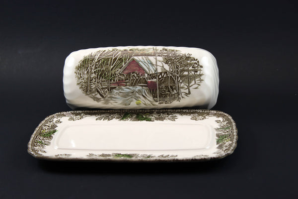 Johnson Brothers The Friendly Village Covered Butter Dish