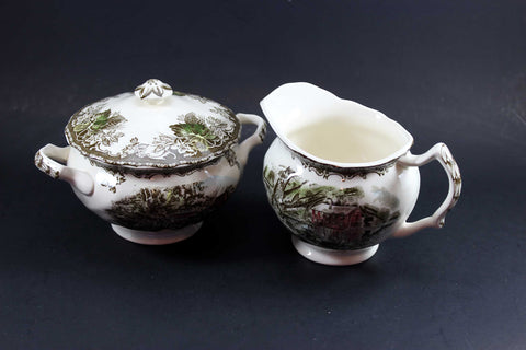 Friendly Village, Johnson Brothers-Creamer and Sugar Bowl