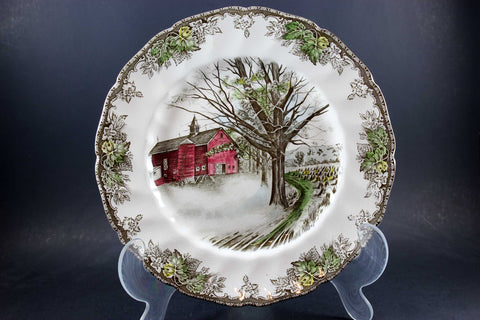 The Friendly Village, Johnson Brothers, Large Dinner Plate-Autumn Mists