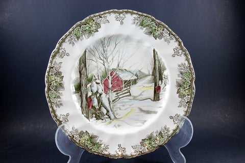 The Friendly Village, Johnson Brothers, Large Dinner Plate-Sugar Maples