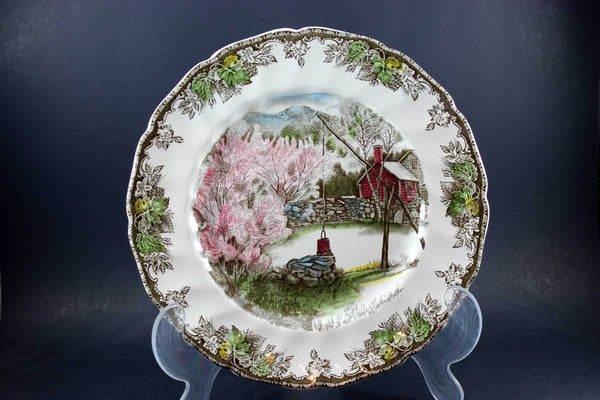 The Friendly Village, Johnson Brothers, Large Dinner Plate-The Well