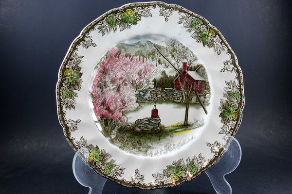 The Friendly Village, Johnson Brothers, Large Dinner Plate - The Well