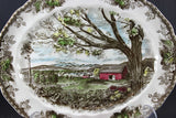 Friendly Village, Johnson Brothers, Large Serving Platter-Harvest Time