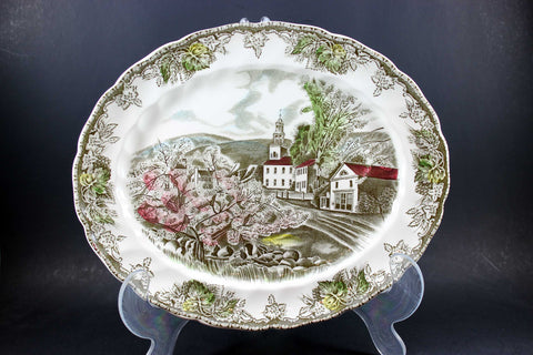 Friendly Village, Johnson Brothers, Serving Platter-The Village Green