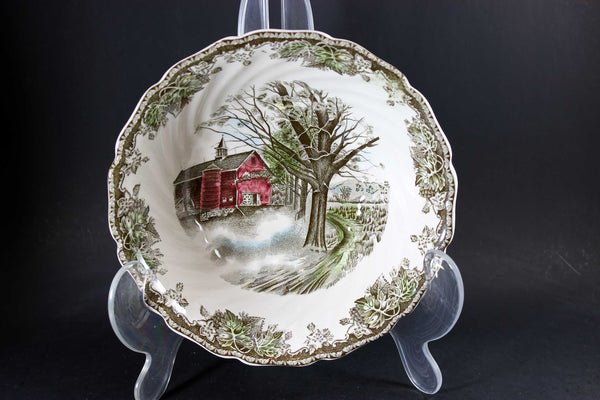 Friendly Village, Johnson Brothers-Round Serving Bowl