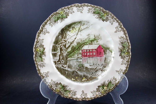 Friendly Village, Johnson Brothers, Large Dinner Plate - The Old Mill