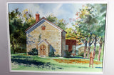 Gordon Peters Original Watercolour-St. John's Anglican, Mono Mills