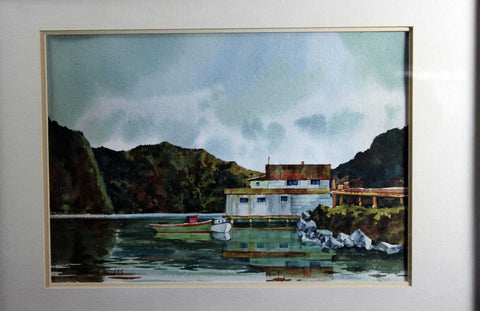 Gordon Peters Original Watercolour-Harbour