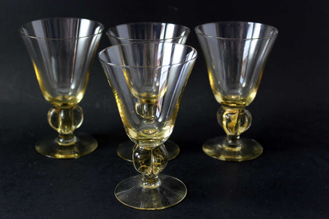 Crystal Wine Glasses, Gulli (Gold) by Swedish
