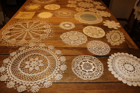 Handmade Antique Lace Doilies
