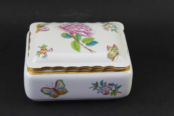 Herend Hungary Hand Painted Trinket Dish