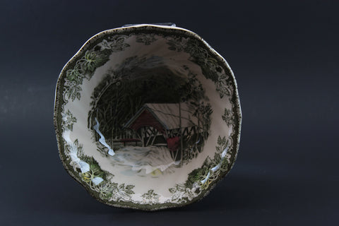 Johnson Brothers, Square Cereal Bowl, The Covered Bridge