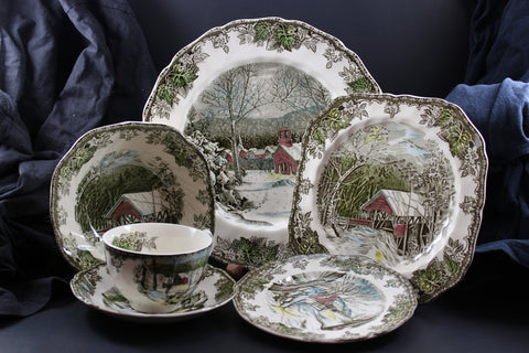 Johnson Brothers - The Friendly Village - Vintage Six Piece Place Setting