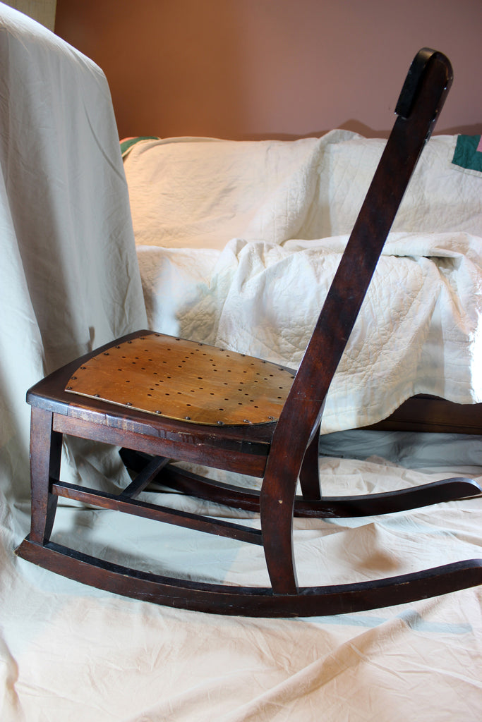 ... Antique Nursing/Sewing Rocker, Small, Star pattern seat ... - Antique Nursing/Sewing Rocker, Small, Star Pattern Seat – With A Past
