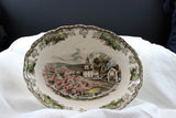 Johnson Brothers, The Friendly Village, Vegetable Serving Bowl-Village Green