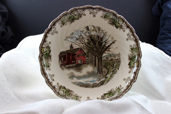 Johnson Brothers, The Friendly Village, Round Vegetable Serving Bowl