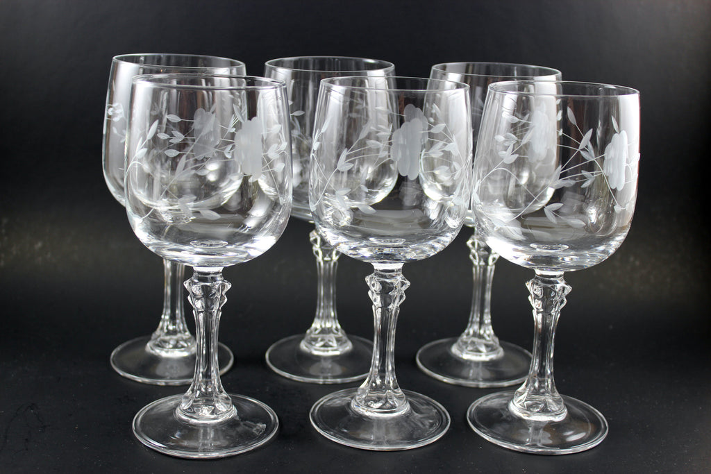 Princess House Bordeaux 7 Quot Crystal Wineglasses 6