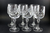"Princess House Bordeaux 7"" Crystal Wineglasses (6)"