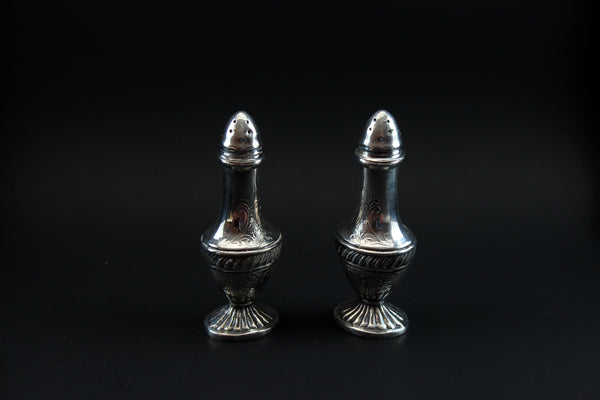 Viking Salt & Pepper, Silverplate Vintage Art Deco
