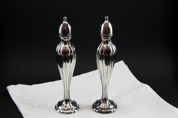 Silverplate Salt & Pepper Shakers Vintage Art Deco