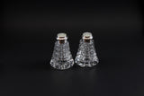 Crystal Salt & Pepper with Sterling/Mother of Pearl Cap