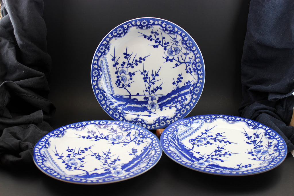 Northland Porcelain Blue u0026 White Fine China Japan Plates ... : porcelain china dinnerware - pezcame.com