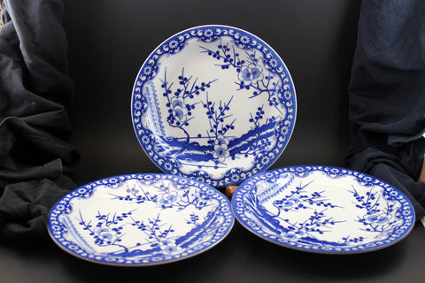 Northland Porcelain Blue & White Fine China Japan Plates