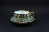 Shafford Japan, Hand-painted, 3 Legged, Teacup & Saucer