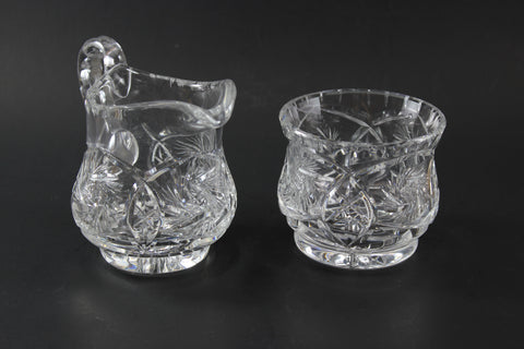 Pinwheel Medium Crystal Cream and Sugar Set