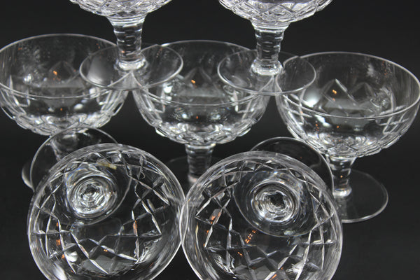 Stuart Crystal, Beau Pattern, Dessert/Sorbet Dishes (7)